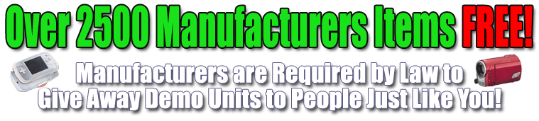 AllProductsFree.com - Get over 2500 manufacturers items for absolutly free!